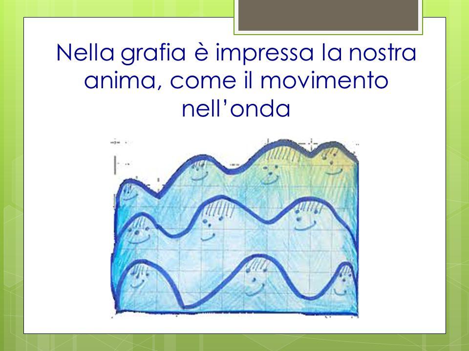 Nella grafia è impressa la nostra anima, come il movimento nell'onda