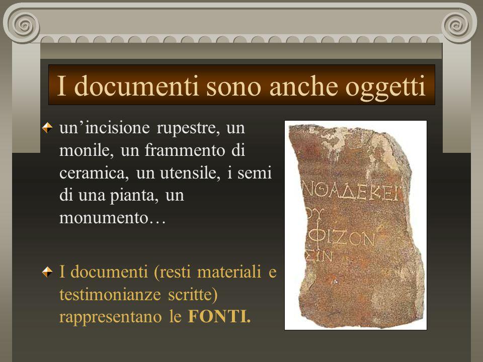 I documenti sono anche oggetti