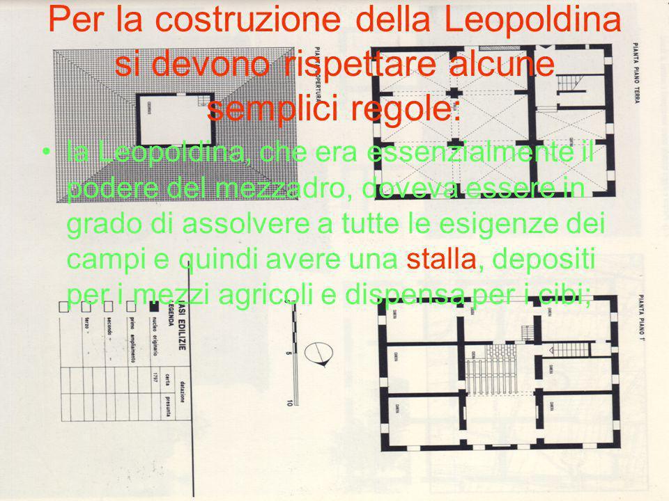 Per la costruzione della Leopoldina si devono rispettare alcune semplici regole: