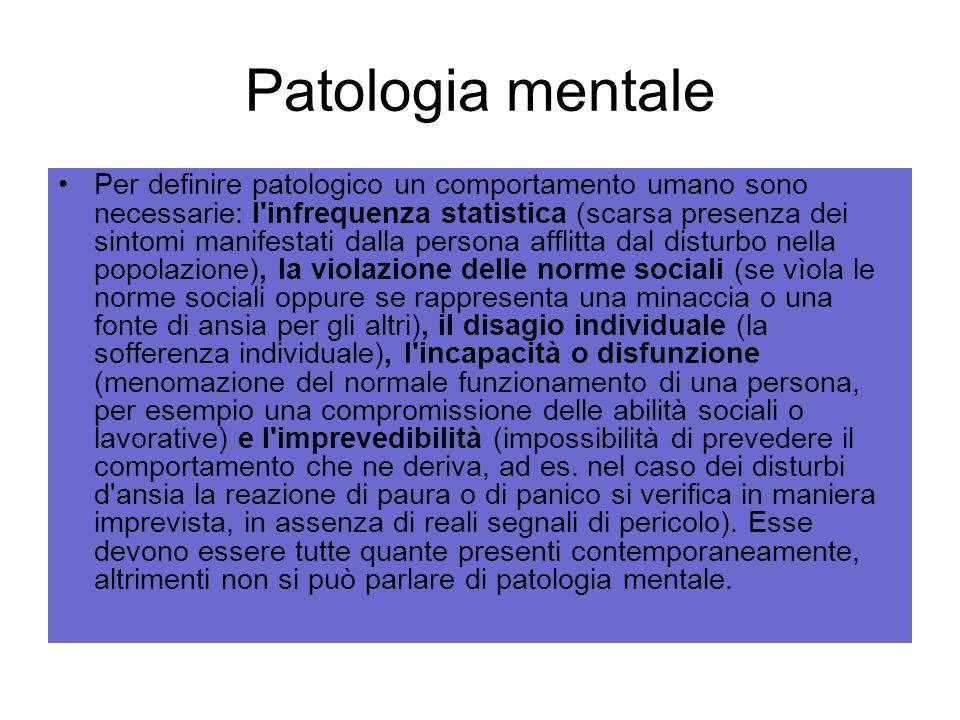Patologia mentale