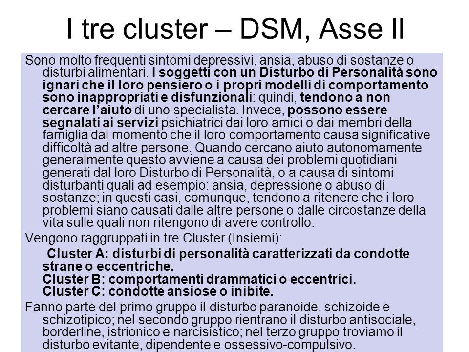 I tre cluster – DSM, Asse II