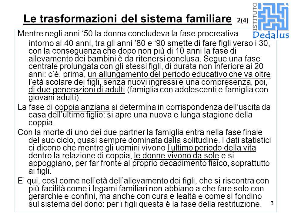 Le trasformazioni del sistema familiare 2(4)
