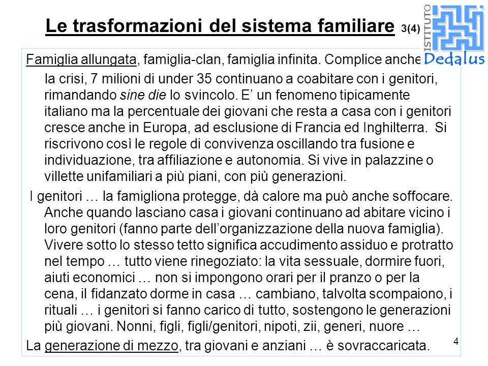 Le trasformazioni del sistema familiare 3(4)