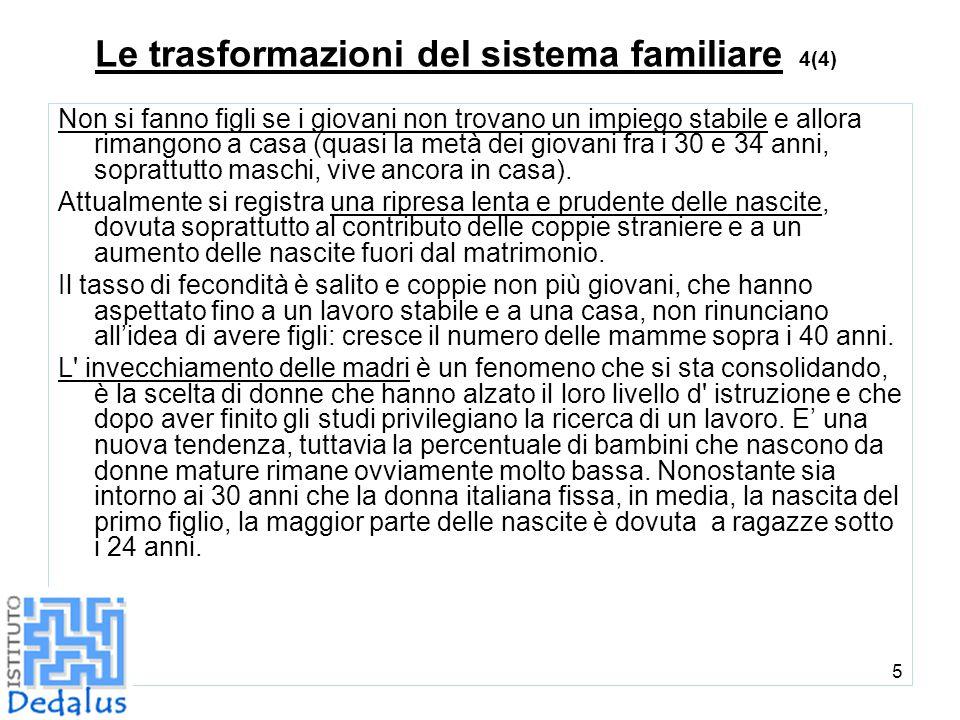 Le trasformazioni del sistema familiare 4(4)