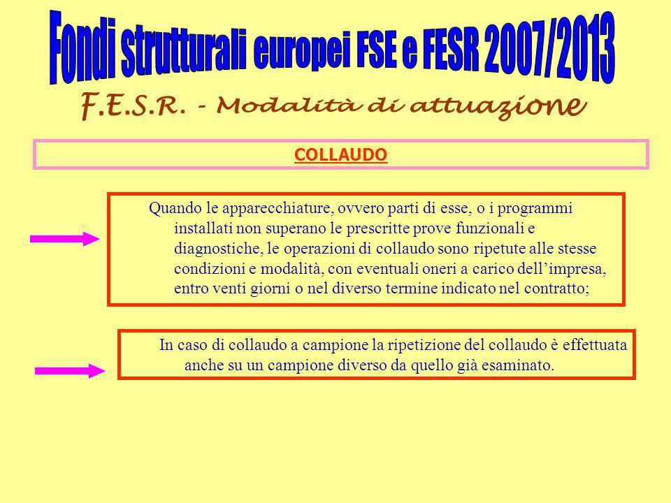 Fondi strutturali europei FSE e FESR 2007/2013