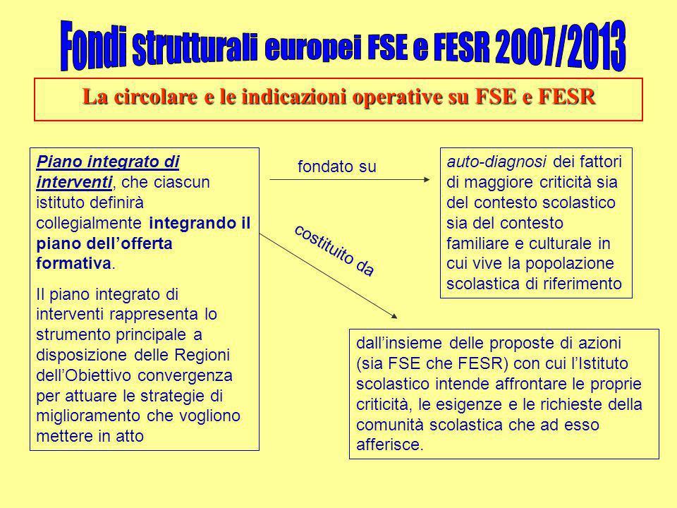 La circolare e le indicazioni operative su FSE e FESR