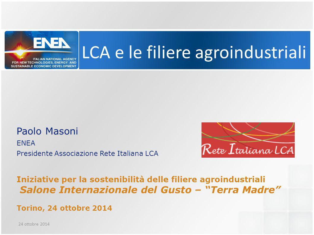 LCA e le filiere agroindustriali