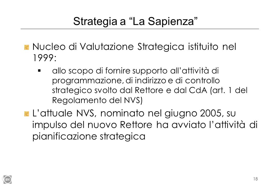 Strategia a La Sapienza