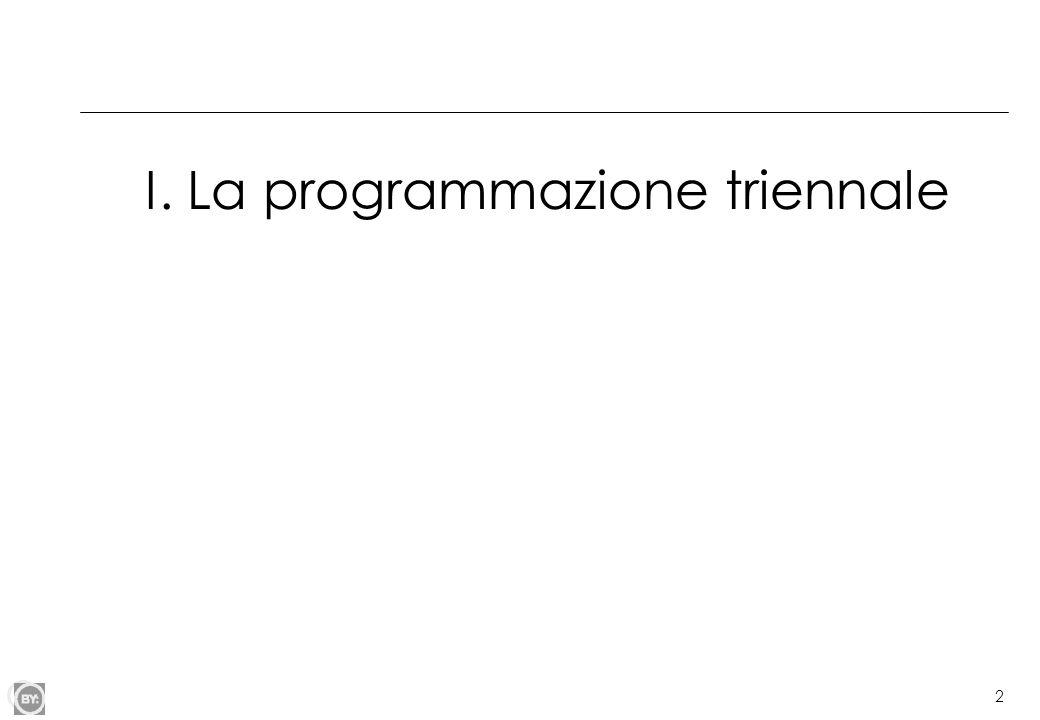 I. La programmazione triennale