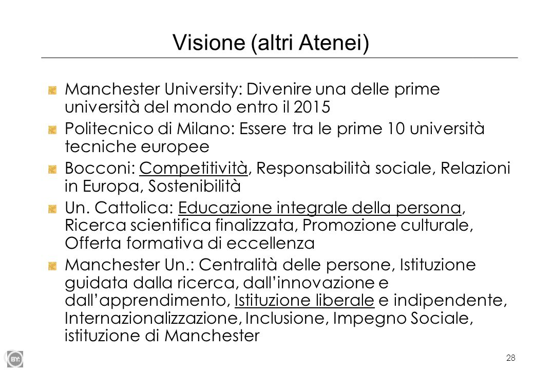 Visione (altri Atenei)