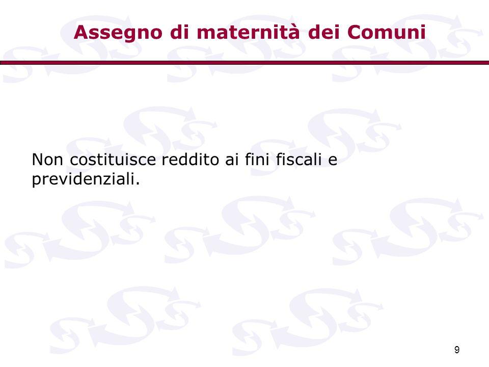 Assegno di maternità dei Comuni