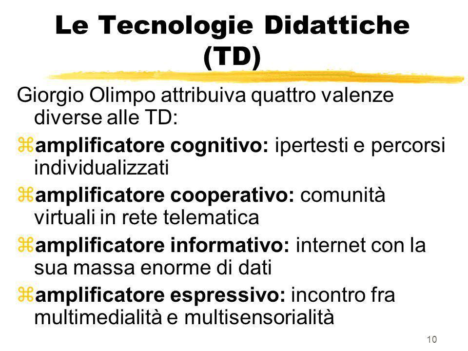 Le Tecnologie Didattiche (TD)