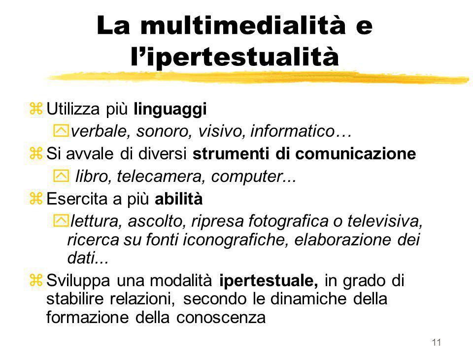 La multimedialità e l'ipertestualità