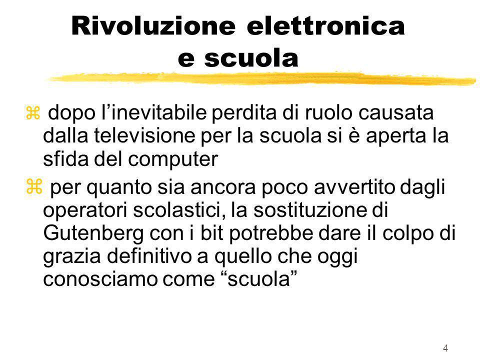 Rivoluzione elettronica e scuola