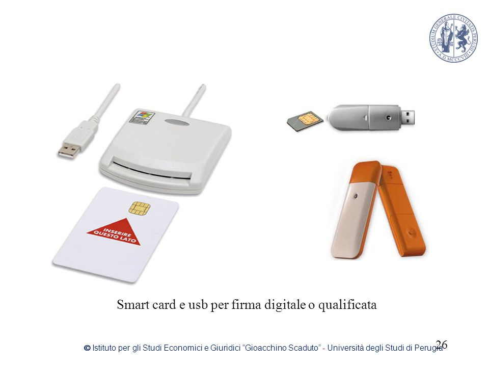 Smart card e usb per firma digitale o qualificata