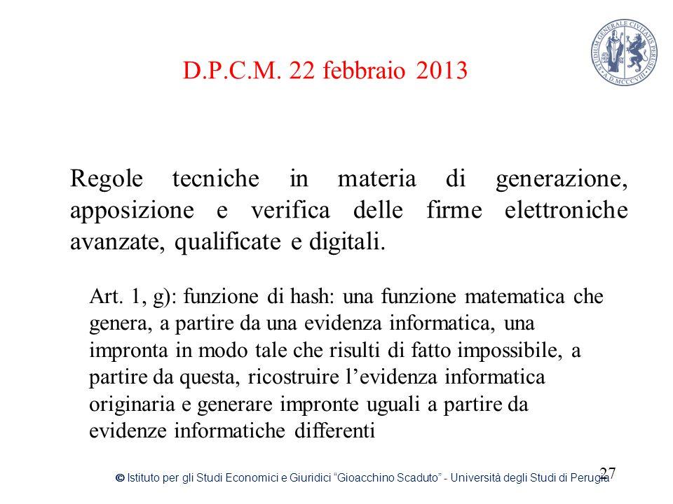 D.P.C.M. 22 febbraio 2013