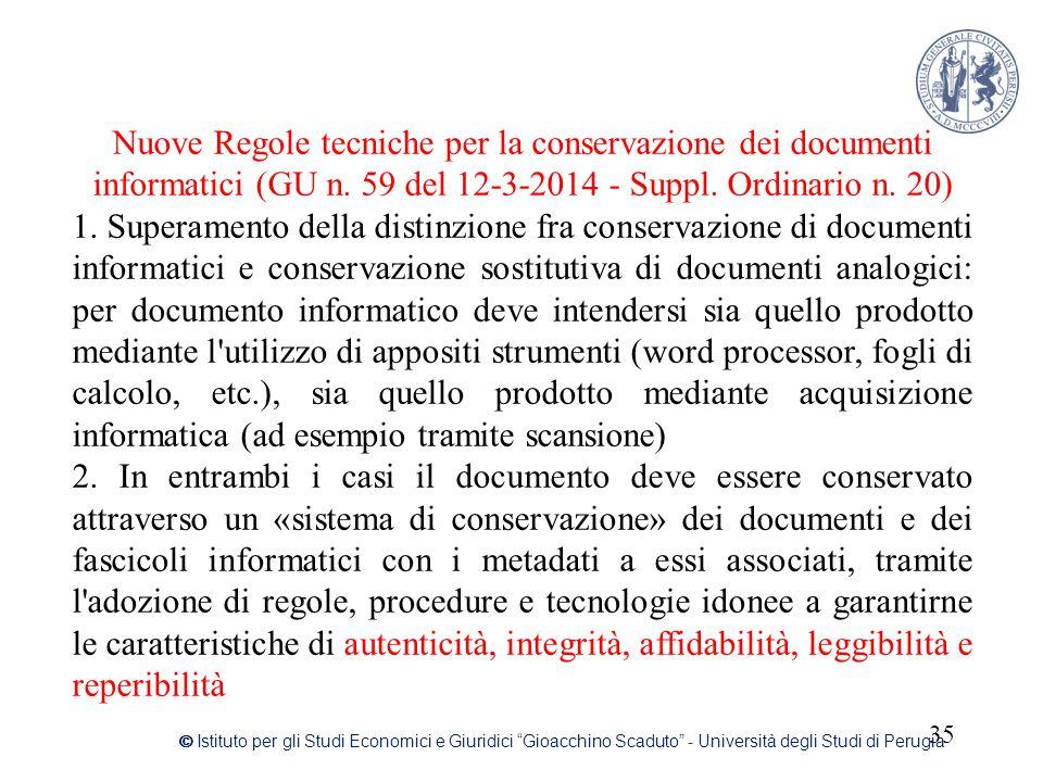Nuove Regole tecniche per la conservazione dei documenti informatici (GU n. 59 del 12-3-2014 - Suppl. Ordinario n. 20)