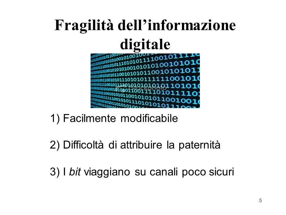 Fragilità dell'informazione digitale