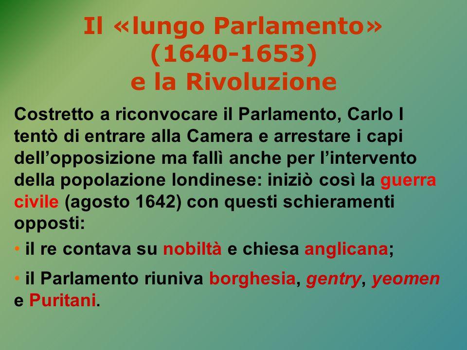 Il «lungo Parlamento» (1640-1653) e la Rivoluzione