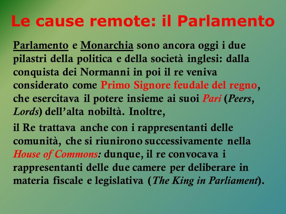 Le cause remote: il Parlamento