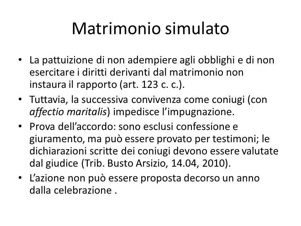 Matrimonio simulato