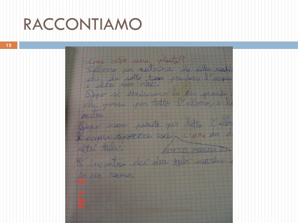 RACCONTIAMO Paola Zolfo Le Tuberie I Circolo Didattico di Lanciano