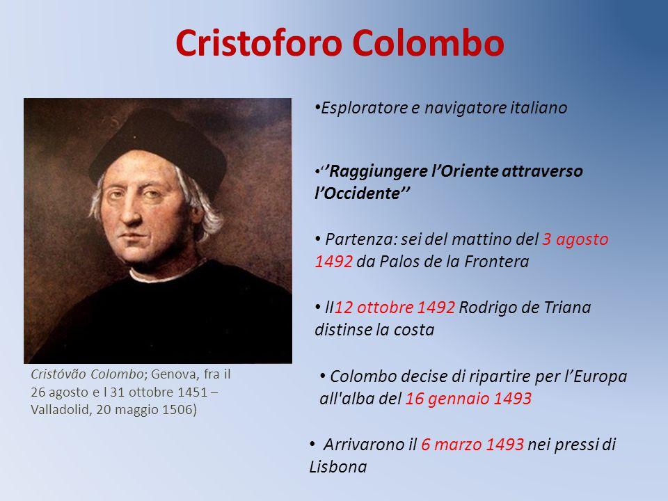 Cristoforo Colombo Esploratore e navigatore italiano