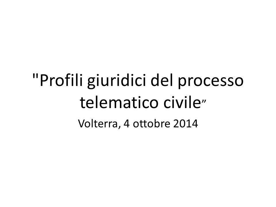 Profili giuridici del processo telematico civile