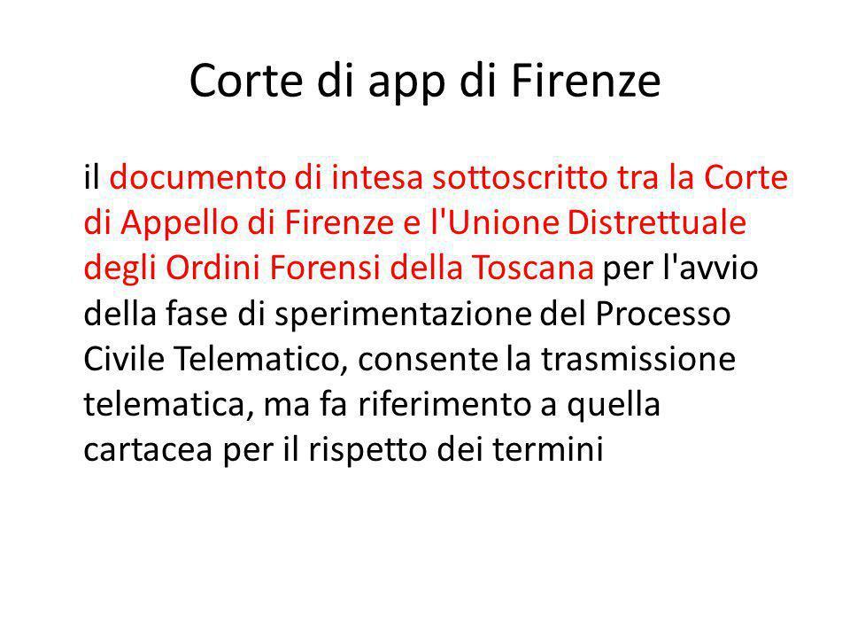 Corte di app di Firenze