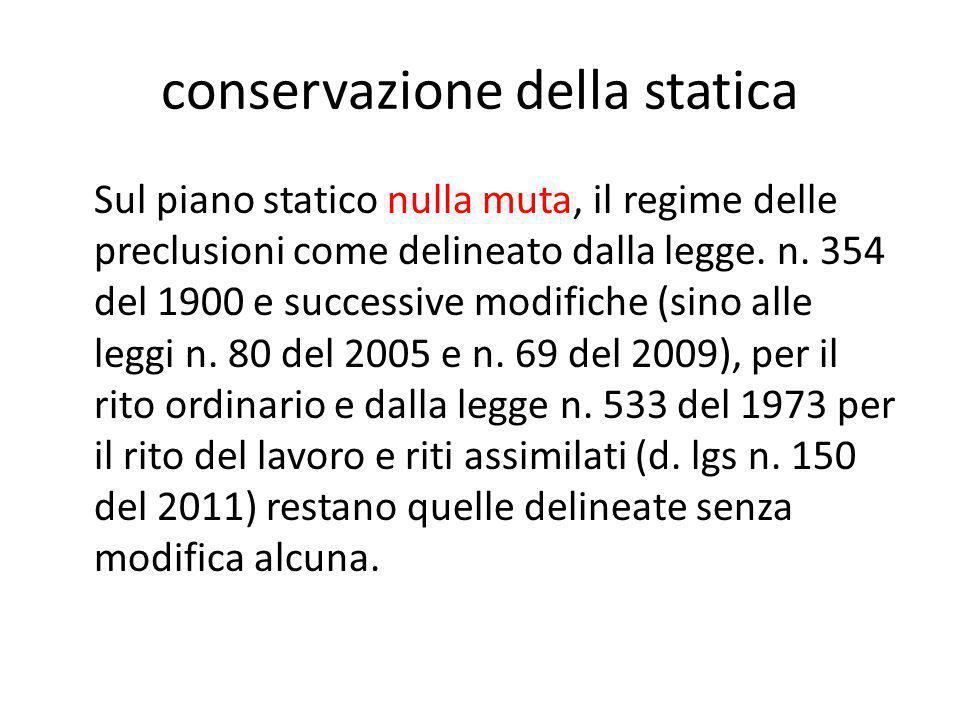 conservazione della statica