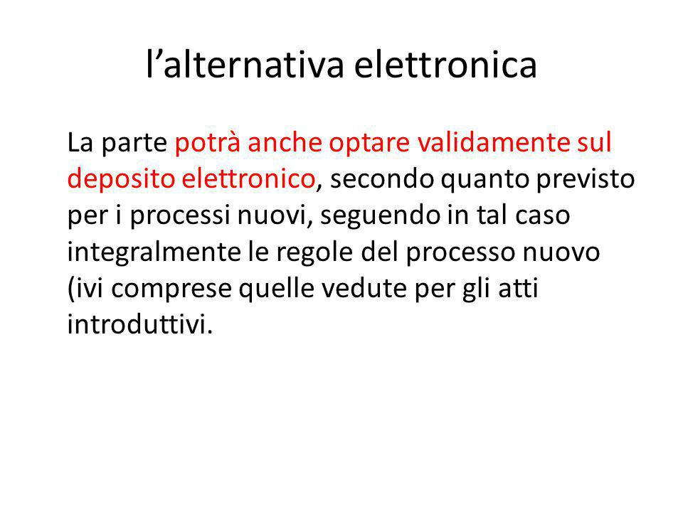 l'alternativa elettronica