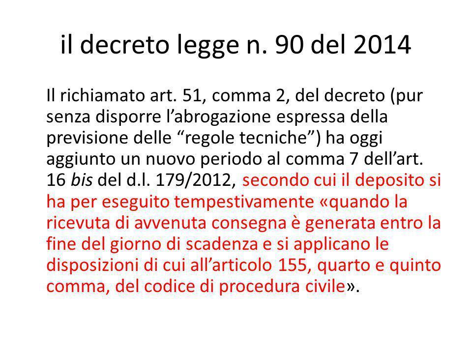 il decreto legge n. 90 del 2014