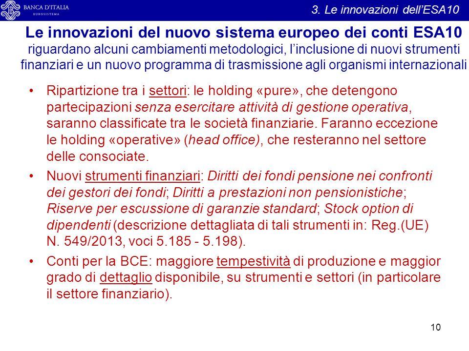 3. Le innovazioni dell'ESA10
