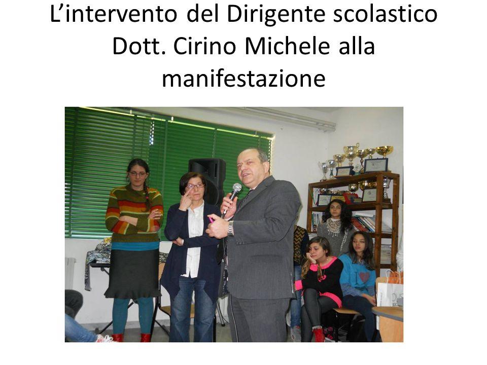 L'intervento del Dirigente scolastico Dott