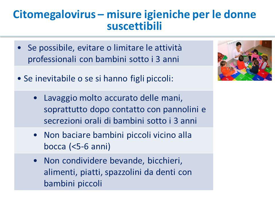 Citomegalovirus – misure igieniche per le donne suscettibili