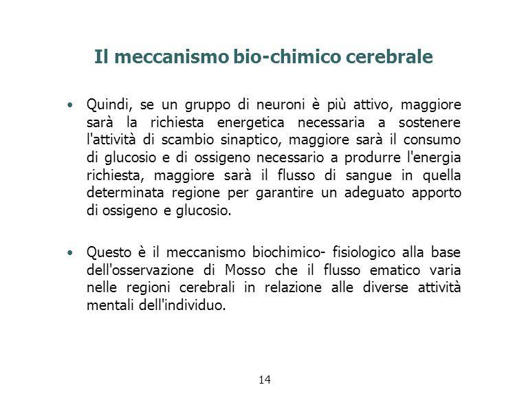 Il meccanismo bio-chimico cerebrale