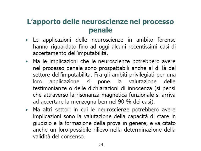 L'apporto delle neuroscienze nel processo penale