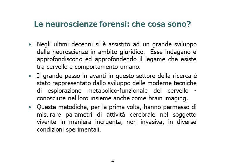 Le neuroscienze forensi: che cosa sono