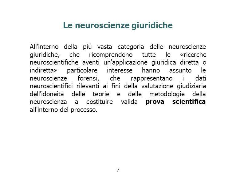 Le neuroscienze giuridiche