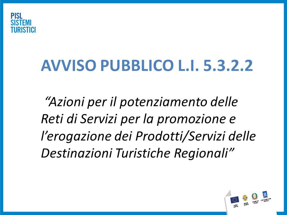 AVVISO PUBBLICO L.I. 5.3.2.2 Azioni per il potenziamento delle