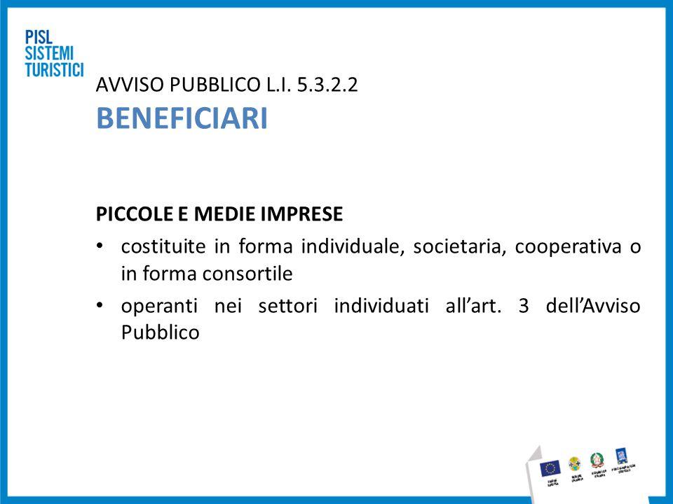 AVVISO PUBBLICO L.I. 5.3.2.2 BENEFICIARI