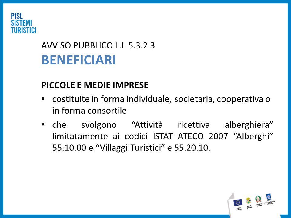 AVVISO PUBBLICO L.I. 5.3.2.3 BENEFICIARI