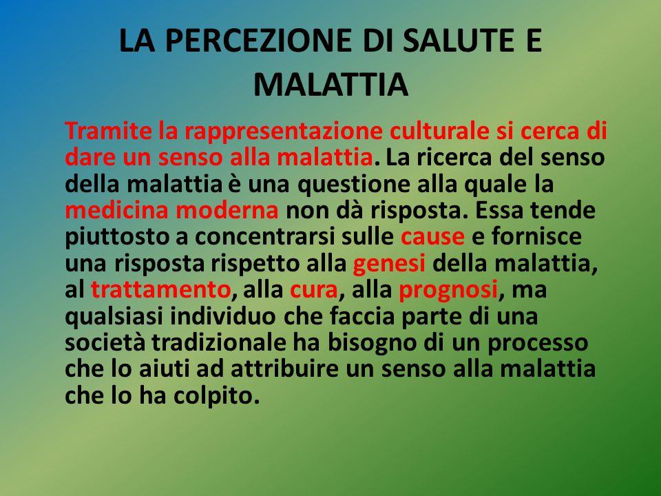 LA PERCEZIONE DI SALUTE E MALATTIA