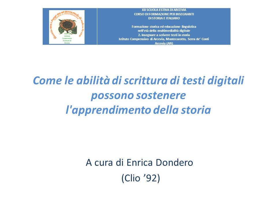 A cura di Enrica Dondero (Clio '92)