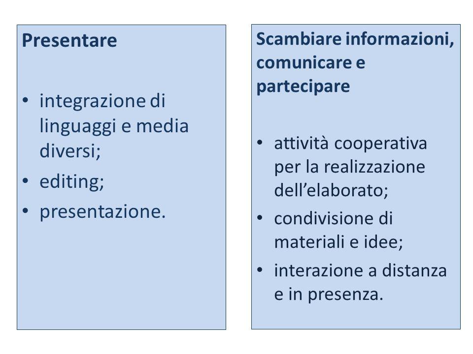 integrazione di linguaggi e media diversi;
