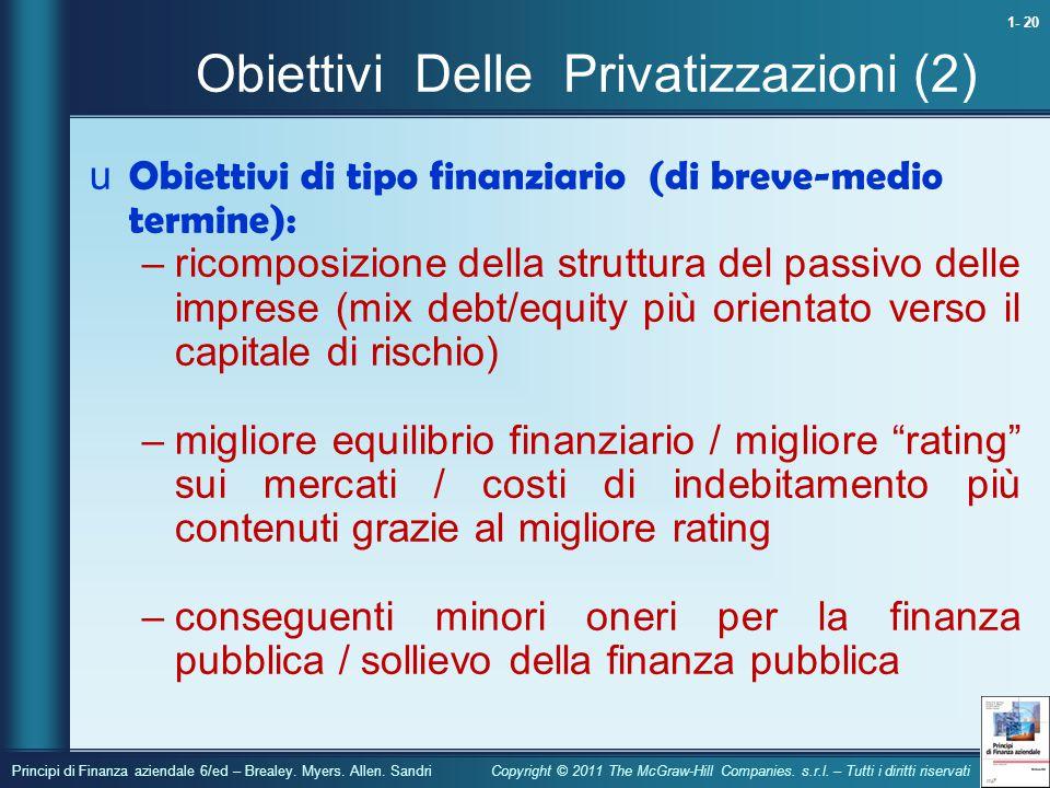 Obiettivi Delle Privatizzazioni (2)