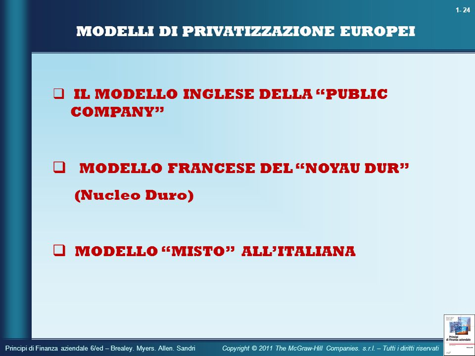 MODELLI DI PRIVATIZZAZIONE EUROPEI