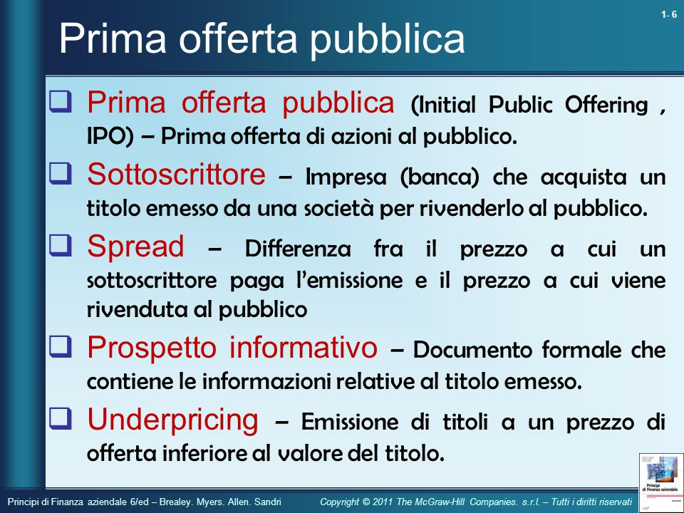 Prima offerta pubblica