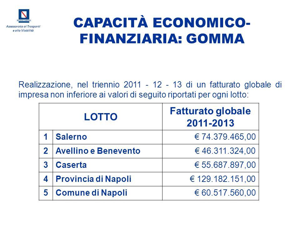 CAPACITÀ ECONOMICO-FINANZIARIA: GOMMA