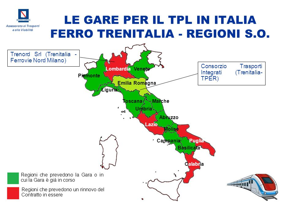LE GARE PER IL TPL IN ITALIA FERRO TRENITALIA - REGIONI S.O.